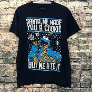 Sesame Street Cookie Monster Santa Shirt